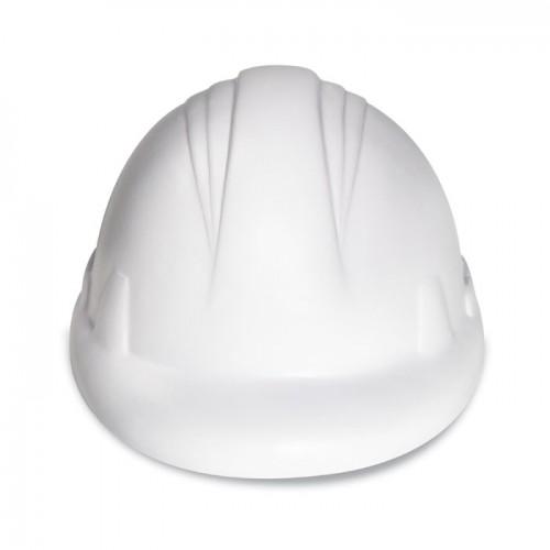 Anti-stress PU helmet in white