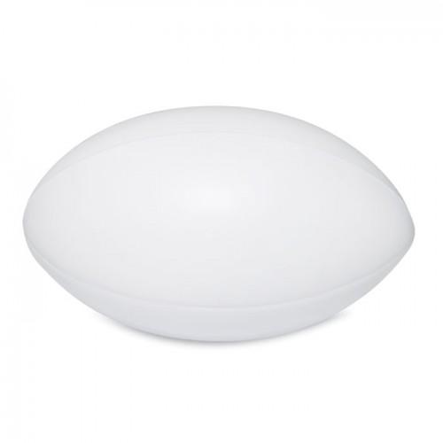 Anti-stress PU rugby ball in white