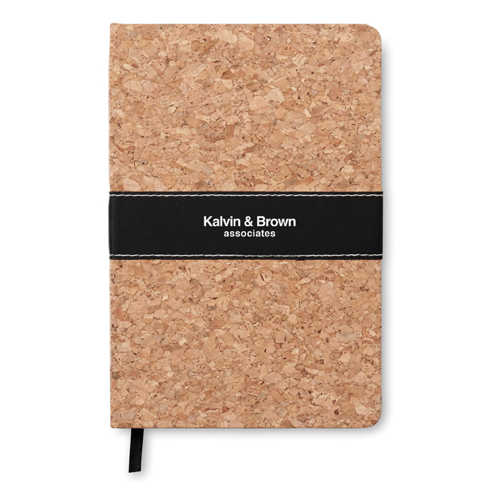 A5 Notebook Cork Covered in brown