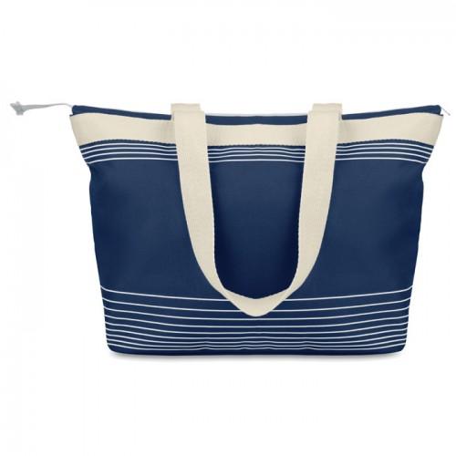 Beach Bag Combi 600D/Canvas in blue