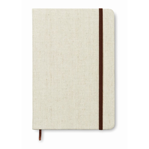 A5 notebook canvas covered in beige