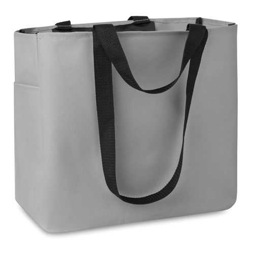 Shopping Bag In 600D Polyester in grey