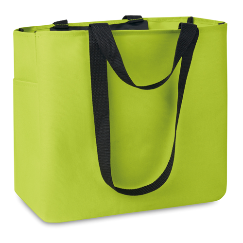 Shopping Bag In 600D Polyester in lime
