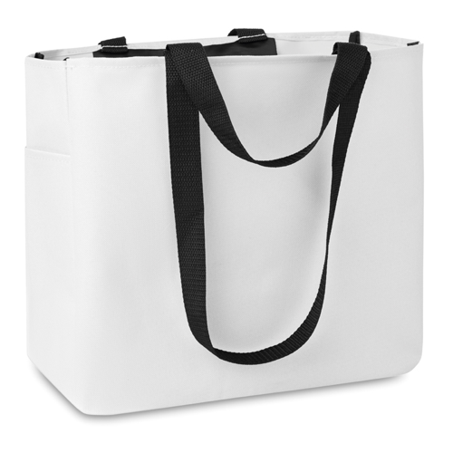 Shopping Bag In 600D Polyester in white