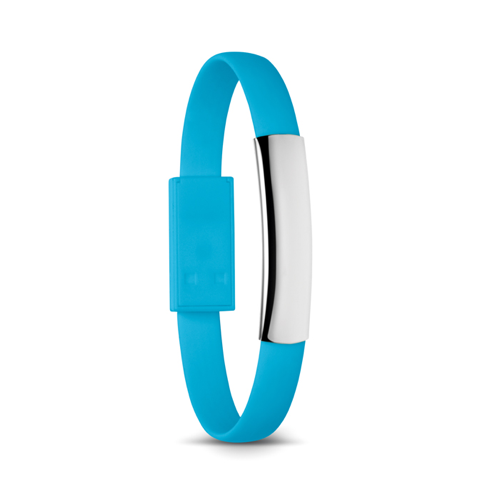 Bracelet cable with micro USB in turquoise