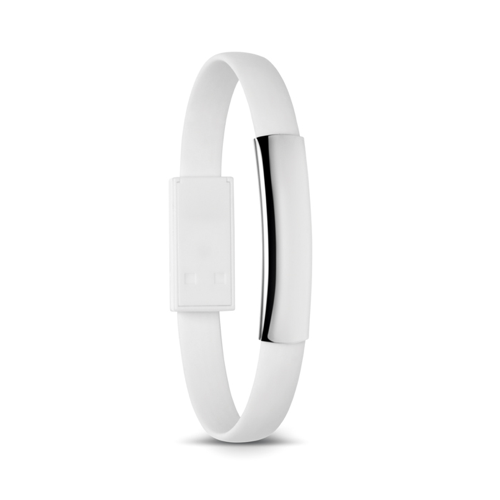 Bracelet cable with micro USB in white