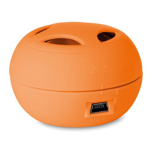 Mini Speaker With Cable in orange