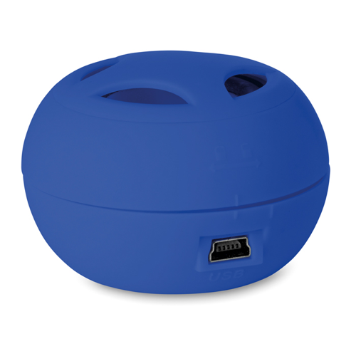 Mini Speaker With Cable in royal-blue
