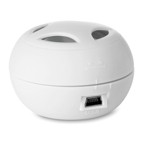 Mini Speaker With Cable in white