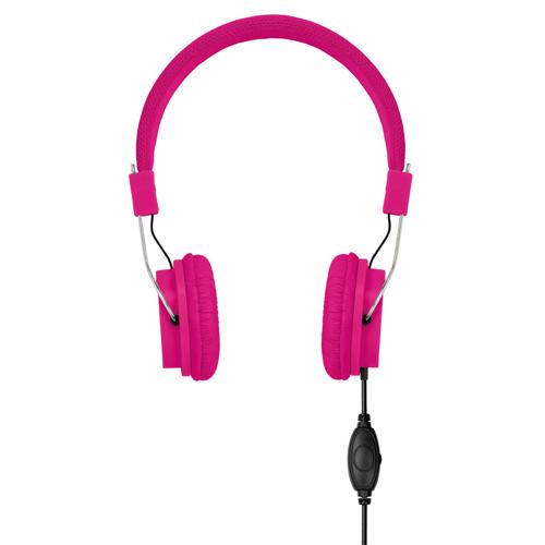 Headphones in fuchsia
