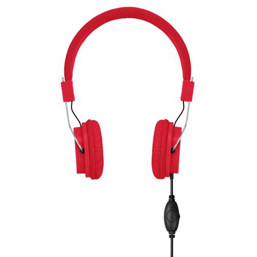 Headphones in red