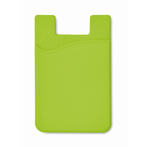 Silicone Cardholder in lime