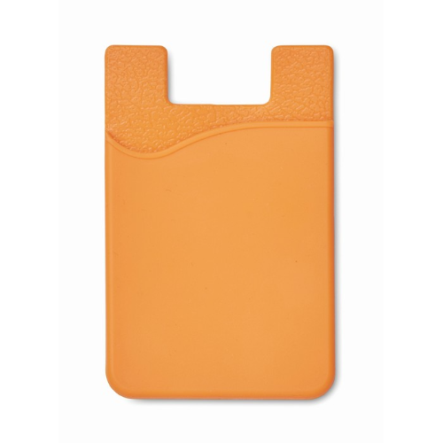 Silicone Cardholder in orange