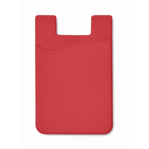 Silicone Cardholder in red