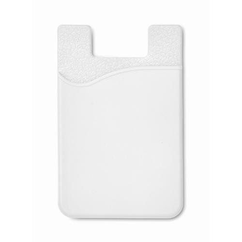 Silicone cardholder             in white