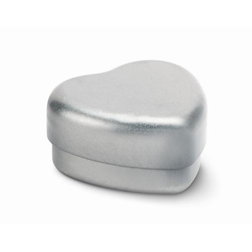 Lip Balm in heart shape tin     in white