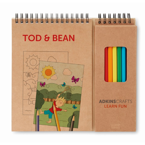 Colouring set with notepad in