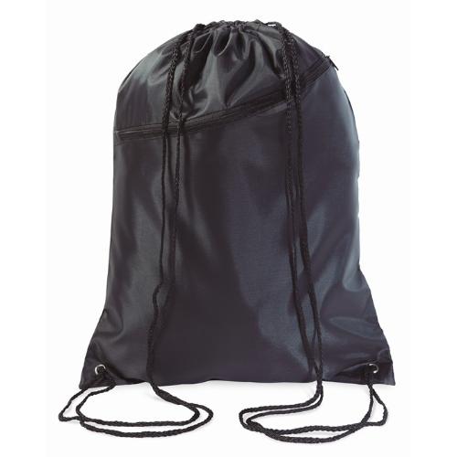 Large drawstring bag            in black