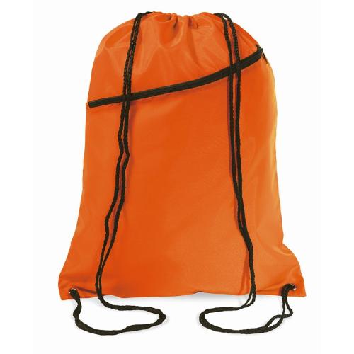 Large drawstring bag            in orange