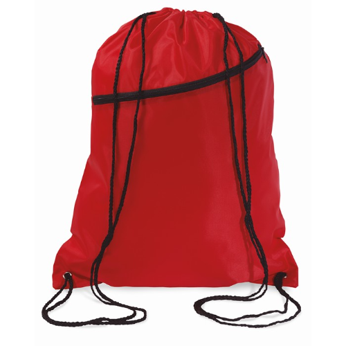 Large drawstring bag            in red
