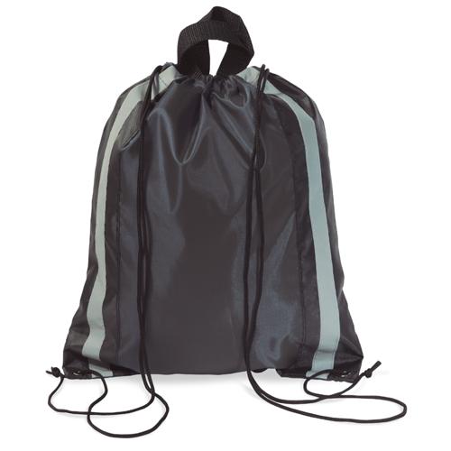 Reflective Drawstring Bag in black