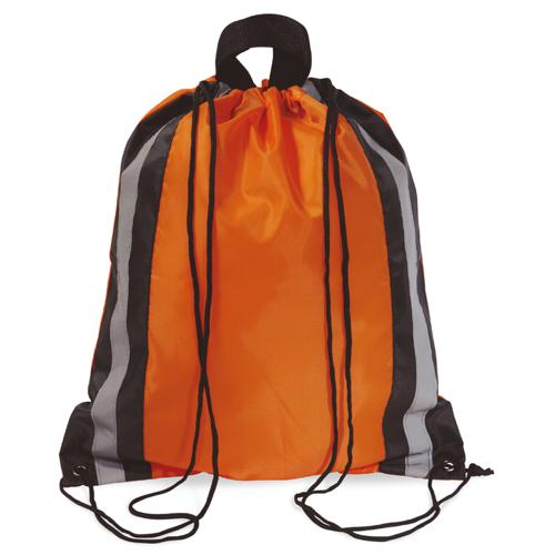 Reflective Drawstring Bag in orange