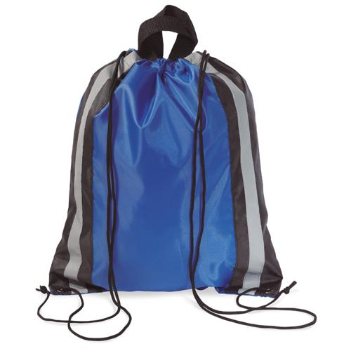 Reflective Drawstring Bag in royal-blue