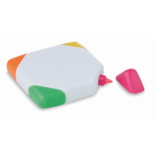 Square shaped highlighter in white