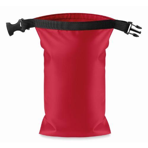 Water resistant bag PVC small in red
