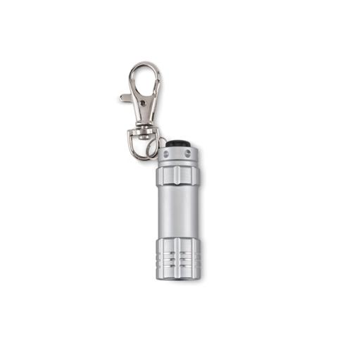 Small Aluminium Torch in matt-silver