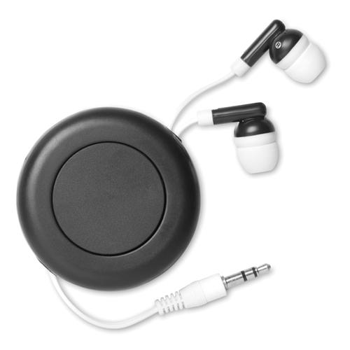 Retractable Earphones in black