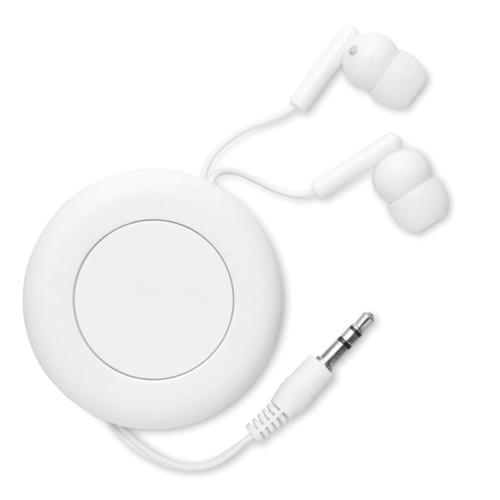Retractable Earphones in white