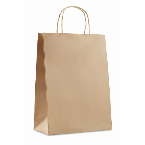 Gift paper bag large size in beige