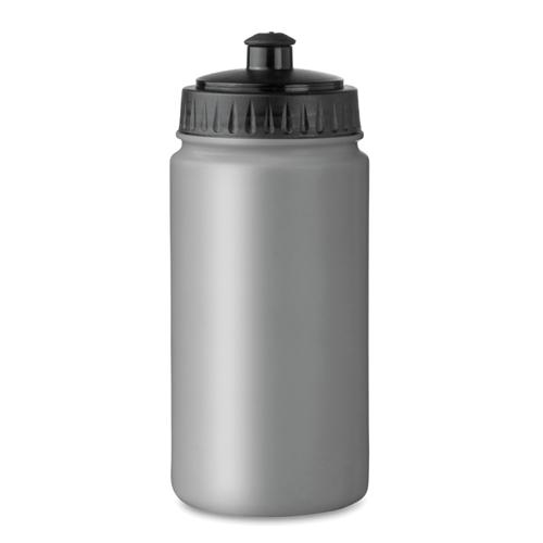 Drinking bottle in matt-silver
