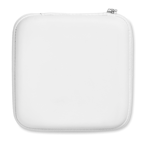 Computer accessories pouch in white