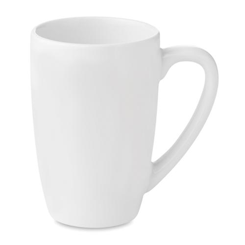 Ceramic tea mug 300 ml in white