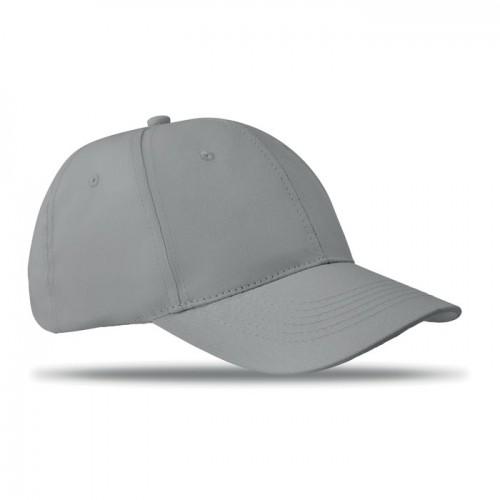 6 panels baseball cap in grey