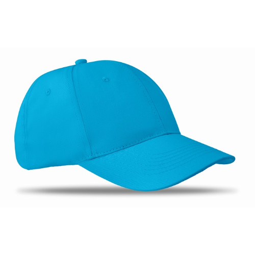 6 panels baseball cap in turquoise