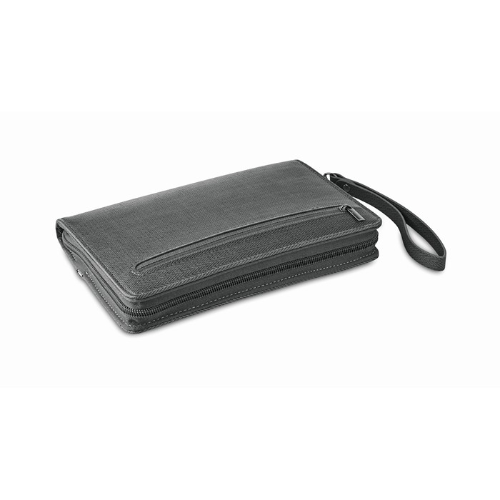 PU organizer with power bank    in grey