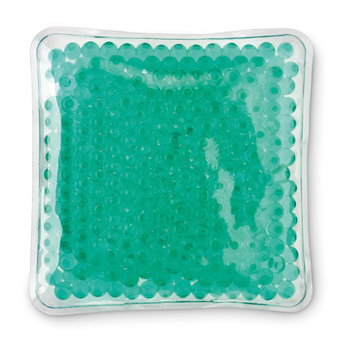 Hot and cold pack in transparent-green