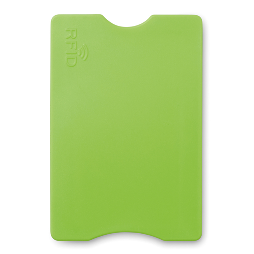 RFID Credit card protector in lime