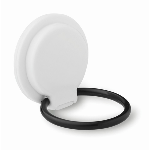 Phone Holder On Ring Stand in white
