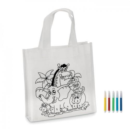 Mini Shopping Bag in white