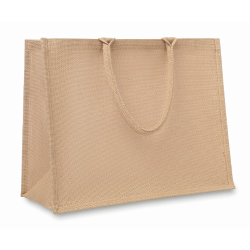 Jute shopping bag               in beige