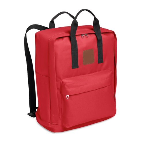600D Polyester Backpack in red