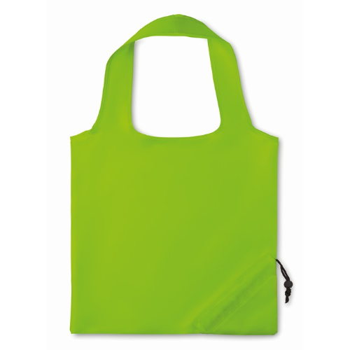 210D Foldable bag in lime