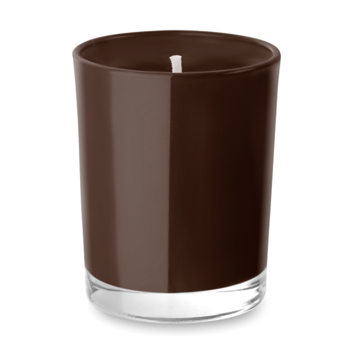 Scented Candle In Glass in brown