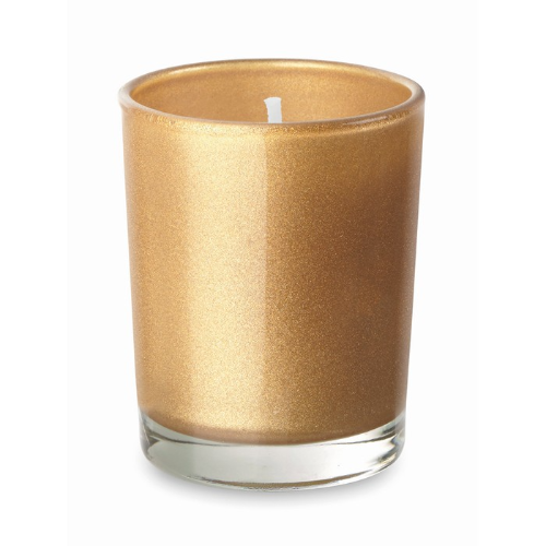 Scented Candle In Glass in gold