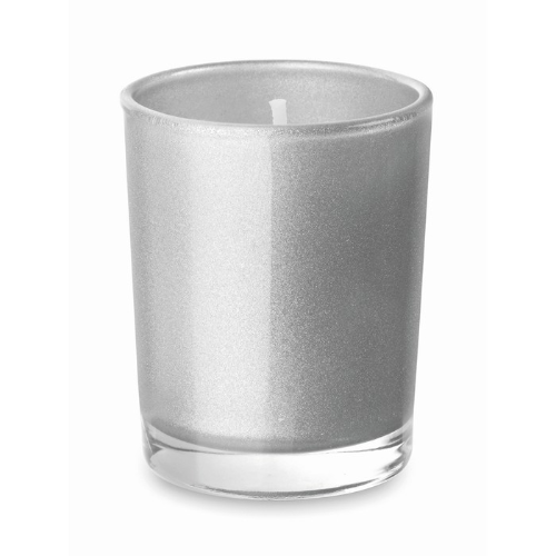 Scented Candle In Glass in matt-silver