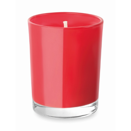 Scented Candle In Glass in red